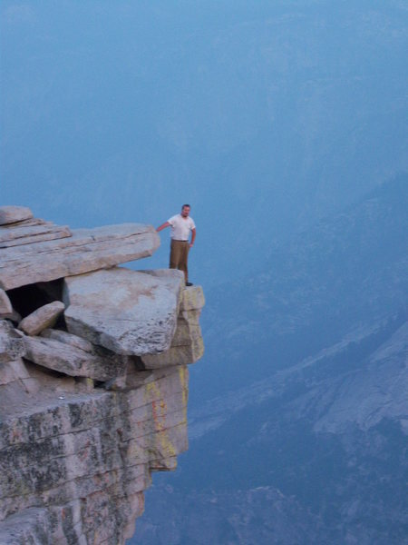 Hanging out on the edge of Half Dome