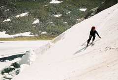 Rock Climbing Photo: Skiing up on Mt. Evans, Trying to stay out of Summ...