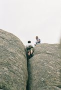 Rock Climbing Photo: My Brother and I at the top of Mother 1
