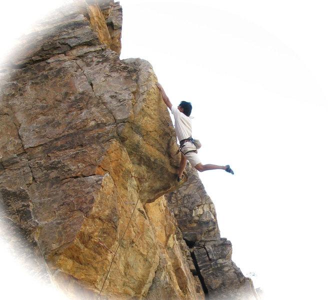 Rock Climbing Photo: Pete sending 'Send It' 12a