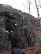 Rock Climbing Photo: The Black Streak route