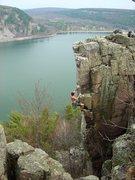 Rock Climbing Photo: Chris Hirsch onsighting SOGC.  April 09.