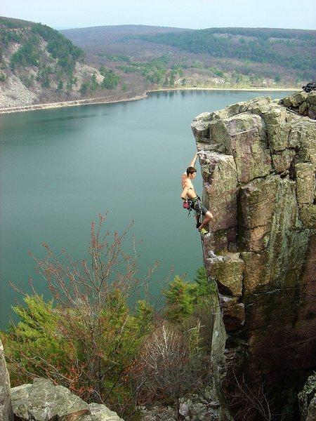 Rock Climbing Photo: Another shot of Chris Hirsch onsight of SOGC.  Apr...