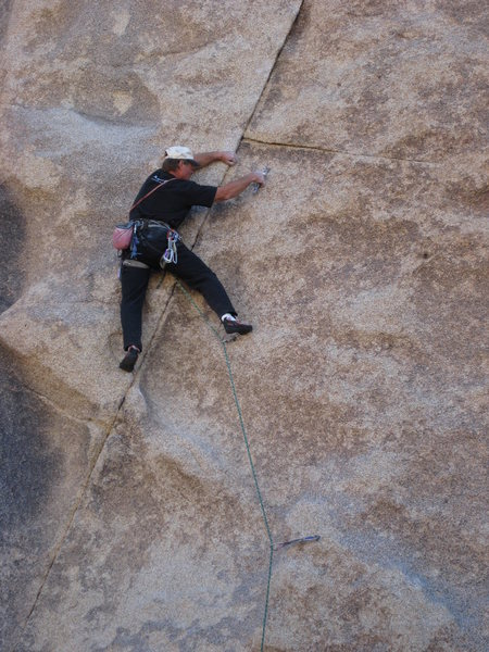 Rock Climbing Photo: Dave Mayville leading Boulderado.