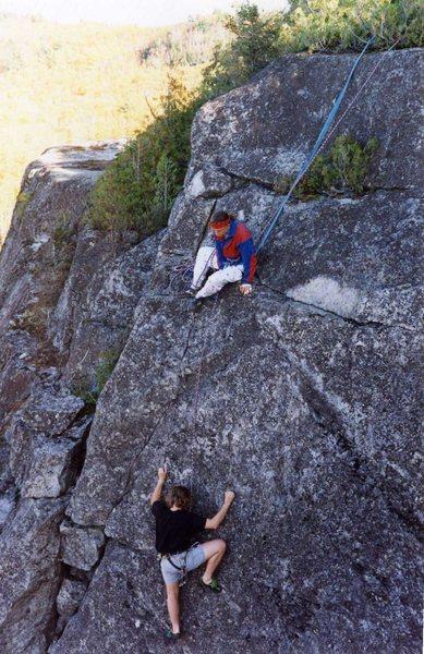 Rick Kolath nearing the top