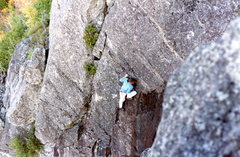 Rock Climbing Photo: Al Grahn in the middle of the face