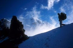 Rock Climbing Photo: Jim LaRue at St Elmos Pass, 2004 Liberty Ridge