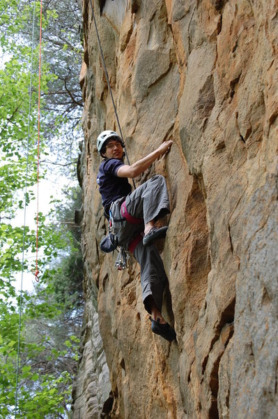 Rock Climbing Photo: Matthew Gant on Orange Crush.