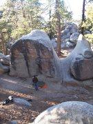 Rock Climbing Photo: Pink Crack at Black Mountain.