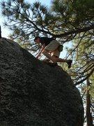 Rock Climbing Photo: Mike loves rocks.