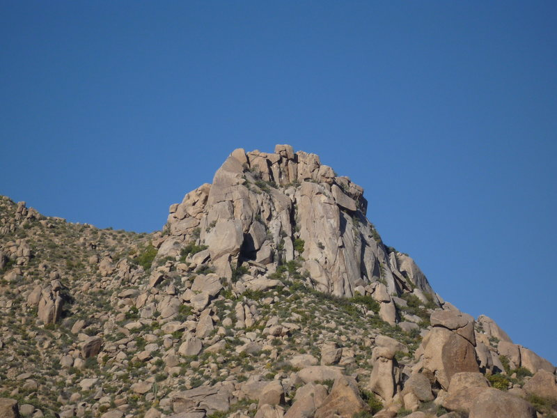 Rock Climbing Photo: Morrell's Wall from the wash approach to Sven Towe...
