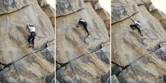 Rock Climbing Photo: Phil executes the infamous mantle on T-Crack at Gi...