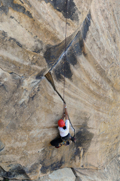 Rock Climbing Photo: A Santa Barbara classic - T-Crack at Gibraltar