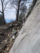 Rock Climbing Photo: J.J. at the first gear placement on Trad and True,...