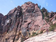 Rock Climbing Photo: This is the route we took.  However, multiple vari...