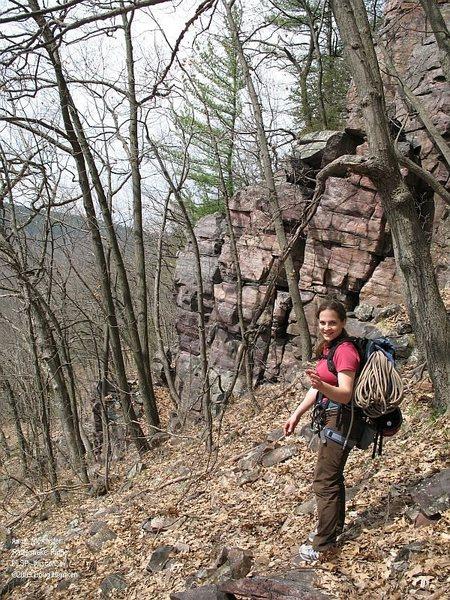 The lower end of Rattlesnake Ridge