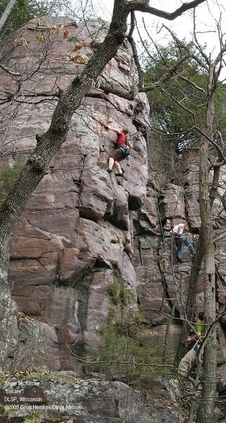 Rock Climbing Photo: Angie tries to decide whether to continue up &quot...