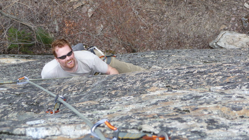 Rock Climbing Photo: Happy Ryan on Speak When You're Spoken To