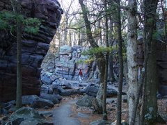 Rock Climbing Photo: Cool rock grotto on the East Bluff trail.  April 0...