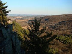 Rock Climbing Photo: Wisconsin River from the East Bluff.  April 09.
