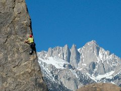 Rock Climbing Photo: Shark Fin Arete with Mt Whitney in background