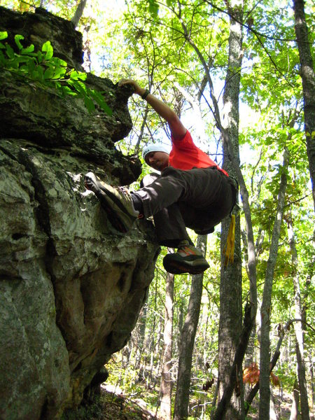 Rock Climbing Photo: sweet boulder found off trail