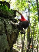 Rock Climbing Photo: sweet boulder found off trail