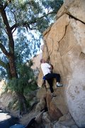 Rock Climbing Photo: Getting into the Flake crack on Dynamite Flake, V ...