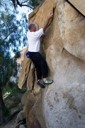 Rock Climbing Photo: Starting the sequence at the good undercut on Dyna...