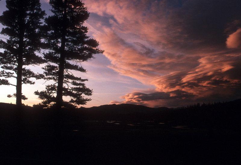 Toulumne Sunset<br> Lenticular clouds