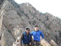 Rock Climbing Photo: On the summit of The Bastille