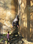 Rock Climbing Photo: The thin hands start.  Photo by Teresa Nagle.