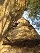 Rock Climbing Photo: Wicked steep...  Photo by Teresa Nagle.