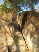 Rock Climbing Photo: What a gorgeous route...  Photo by Teresa Nagle.