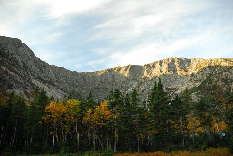 Rock Climbing Photo: Chimney Pond basin @ Mt.Katahdin