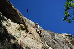Rock Climbing Photo: Pulling down at Eagle's