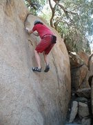 Rock Climbing Photo: Peppertree Crack (V0-), Mt. Rubidoux