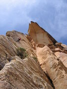 Rock Climbing Photo: 5.8 crack to get into Desert Gold