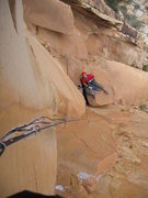 Rock Climbing Photo: Looking down the 5.12 crack from the start of the ...