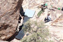 Rock Climbing Photo: Pretty soft rating for Joshua Tree...