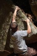 Rock Climbing Photo: Mike starting the base
