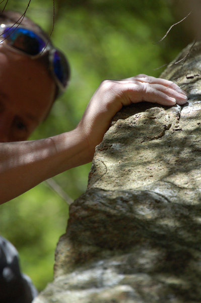 Rock Climbing Photo: Mike somewhere on the arete...