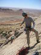 Rock Climbing Photo: Steave belaying Pat at the top of the  second pitc...