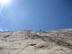 Rock Climbing Photo: The final easy pitch 4 that links into Reefer Madn...