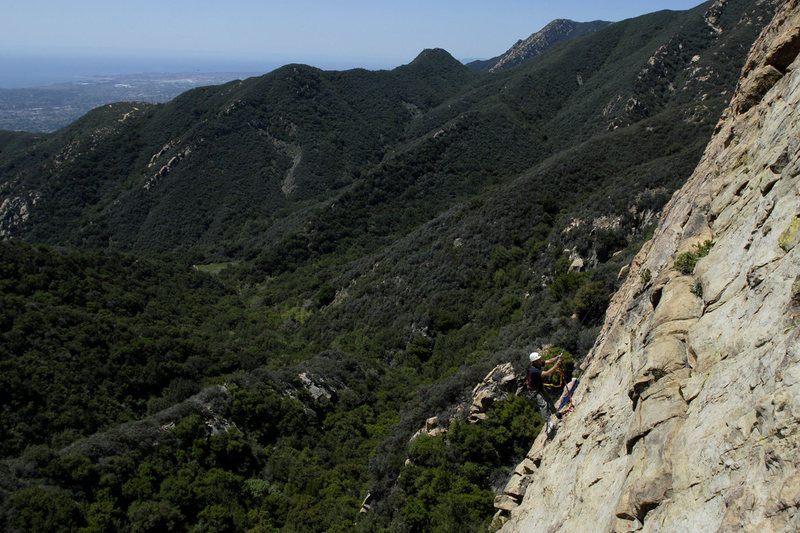 Santa Barbara has a little something for everyone...here a climber performs a rare solo-aid ascent of the Nose at Gibraltar Rock.