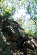 Rock Climbing Photo: KJ on 'No Midgets'
