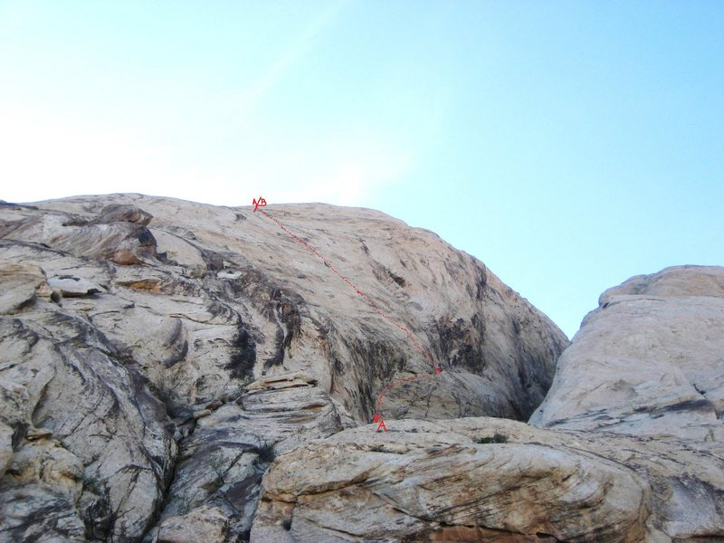 A) More Madness. 5.10 B)Reefer Madness.5.9+. Note the line of the route is just a very rough guide to the situation of the climb. It does not show moves to the right or left ..