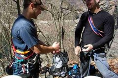 Rock Climbing Photo: Joey and Gonzo. Rock, Paper, Scissors for the 'Dea...