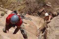 Rock Climbing Photo: Mike leading CJ.