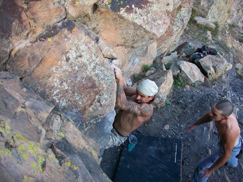 Rock Climbing Photo: Park here...move the feet...go again.